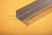 Короб из нержавеющей стали неперфорированный замковый 200Х100